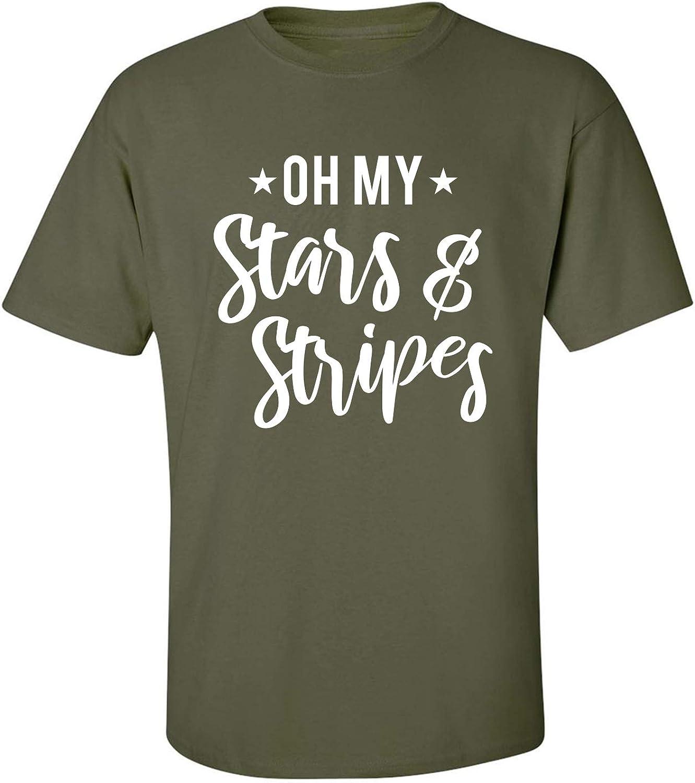 Oh My Stars & Stripes Adult Short Sleeve T-Shirt