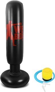 Winload Saco de Boxeo Hinchable de Niños de 160cm para un Rebote inmediato Practicar Karate, Entrenamiento de Fitness, Ejercicio y Alivio del Estrés, Adolescentes y Adultos, con Bomba de Aire de Pie