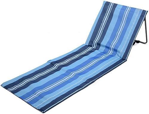 NMNMNM Chaises La Chaise de Plage pour extérieur est pliée Coussin Multifonctionnel portatif de Loisirs de Camping. Tabouret Pliable