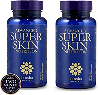 2-Pack Super Skin Nutrition Collagen Peptides, Anti Aging Hair Skin and Nails Vitamins with Hyaluronic Acid, Biotin, Vitam...