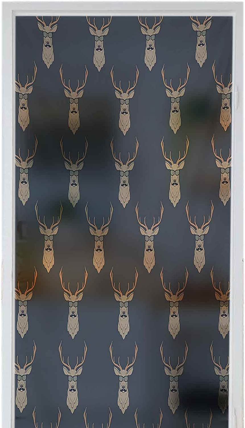 3D Floral Jacksonville Mall Static Window Max 81% OFF Film Privacy Stickers Art Glass Stained