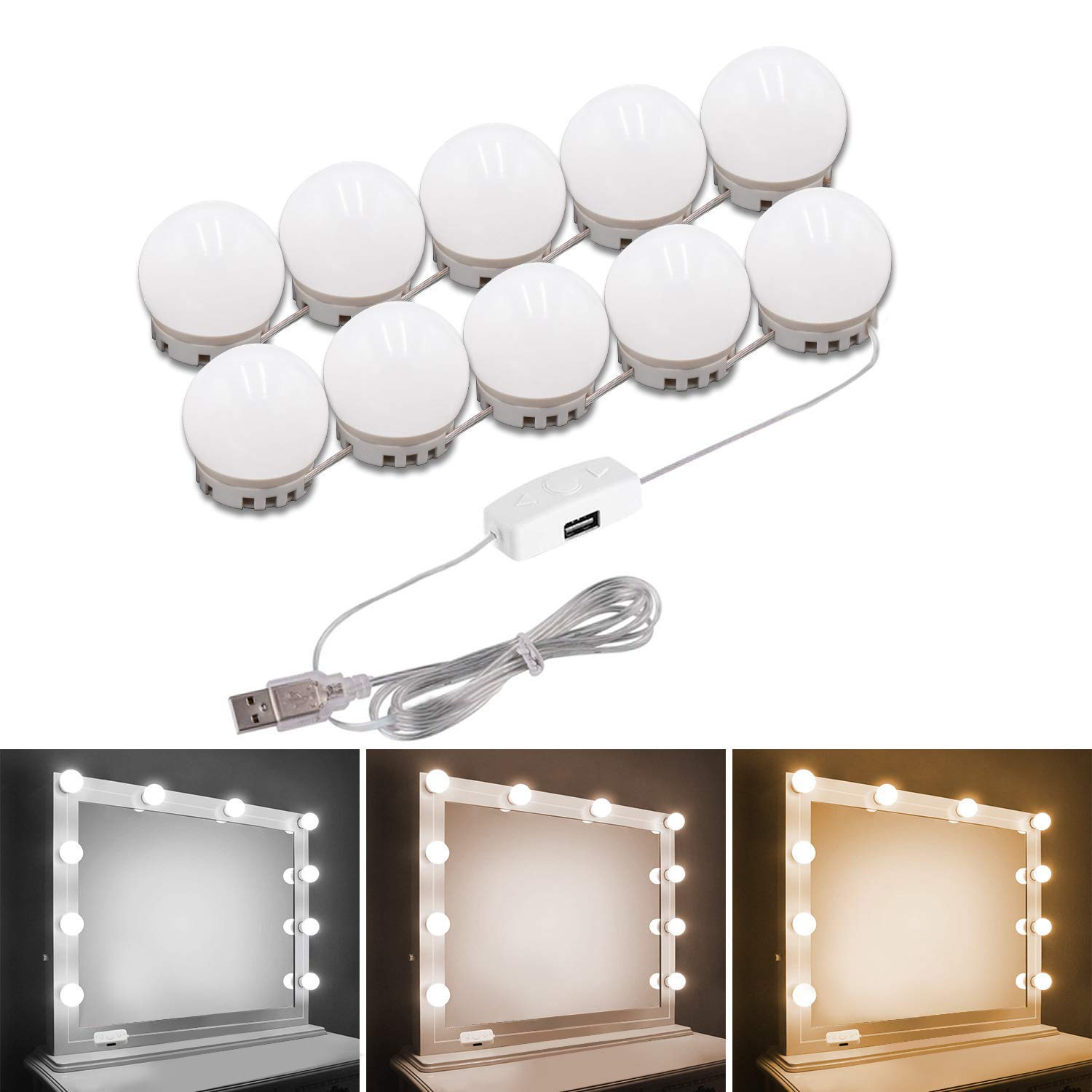Pretmess Dimmable LED Bathroom Hollywood