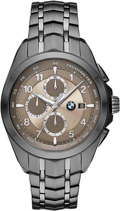 Orologio bmw da uomo al quarzo analogico misura unica in acciaio inossidabile grigio bmw8005