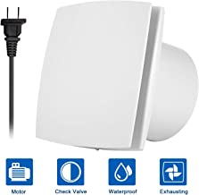 Hon&Guan 6 Inch Home Ventilation Fan Bathroom Garage Exhaust Fan with 150mm Opening Ceiling and Wall Mount - Strong Exhaust for Kitchen/Bathroom/Bedroom/Office (Ultra Silent) 150A