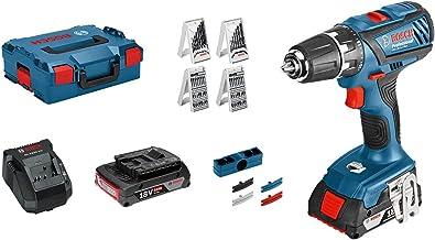 Bosch Professional GSR 18 - Atornillador a batería (2 baterías x 2.0 Ah, 18 V, en L-BOXX)