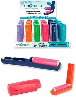 GC - 1pk Handy Compact Folding Lint Roller Remover Fuzz Fiber Surface Clothes Upholstery Eradicator Travel Size Random Color Pick