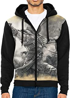 Assassins Creed Black Flag Edward Kenway Men's Hooded Pocket Zip Sweater