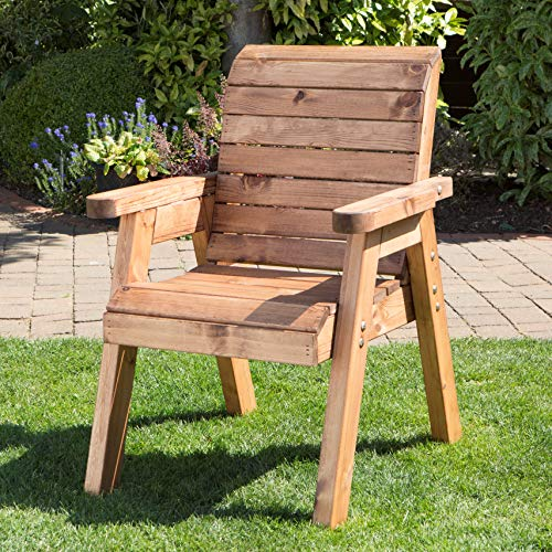 Samuel ALEXANDER Hand Made Traditional Chunky Rustic Wooden Garden Chair Furniture