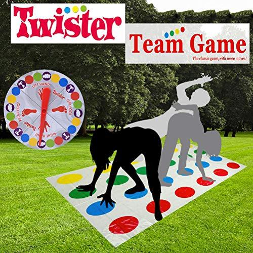 MUCHEN SHOP Twister Juego,Juegos Suelo Gaming Twister Familiar Tapete de Juego para Movimientos Corporales Niños Adultos Niños Fiesta Picnic Deporte al Aire Libre Juguete Regalo