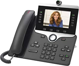 $99 » Cisco Remanufactured IP Business Phone 8845, 5-inch WVGA Color Display, 720p HD Two-Way Video, Gigabit Ethernet Switch, Cl...