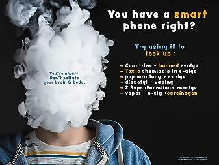 Look Up - Anti-Vaping -Tobacco Educational (Laminated Poster)
