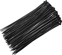Yardwe 1000Pcs Nylon Cable Zip Ties Black Nylon Cable Ties Self Locking Plastic Kabelbinder Set Locking Kabel Draad Tie Wr...