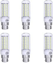 B22 LED Bulbs Daylight White 6000k 7 Watts Corn Light Bulb Bayonet Base 500 Lumens Bright White Light Pack of 6