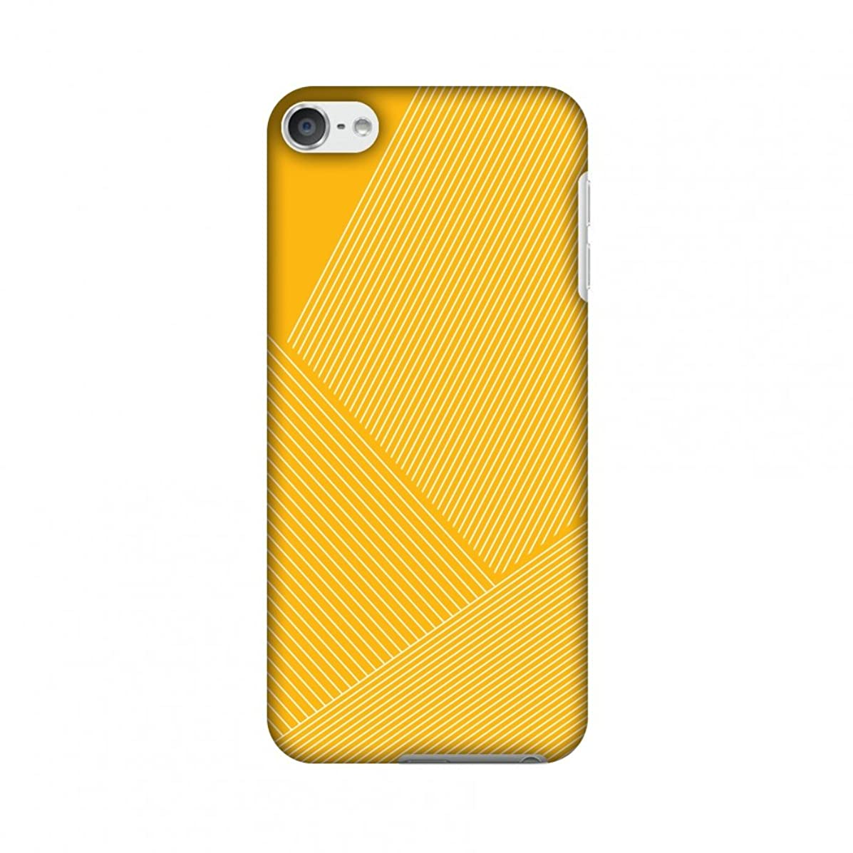 AMZER Slim Designer Snap On Hard Shell Case Back Cover with Screen Care Kit for iPod Touch 6th Gen - Carbon Fibre Redux Cyber Yellow 1
