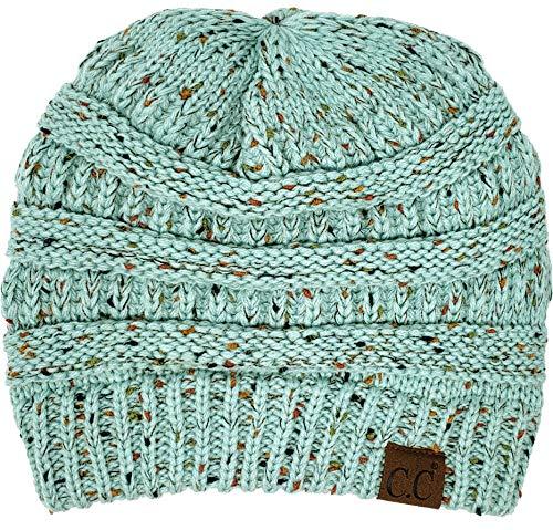 Confetti Knit Beanie - Mint