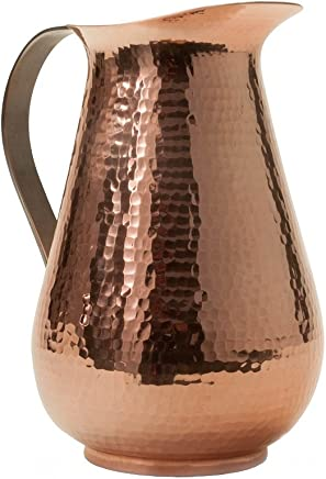 featured product Sertodo Copper WPS-76 Bisotun Water Pitcher with Stainless Steel Handle,  Hand Hammered 100% Pure Copper,  76 oz