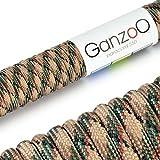 Ganzoo - Corda di salvataggio universale in Paracord 550 resistente con nucleo in nylon, 2...