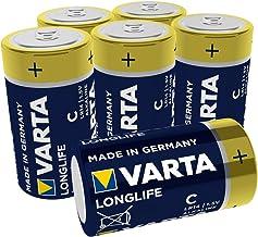 VARTA Longlife C Baby LR14 Batterie (6er Pack) Alkaline Batterien – Made in Germany – ideal für Fernbedienung Radio Wecker und Uhr