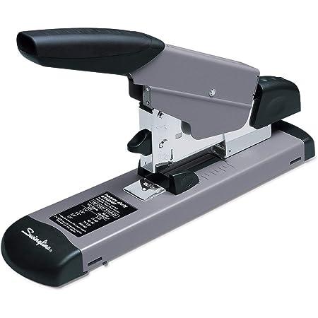 Swingline Heavy Duty Stapler, 160 Sheet High Capacity, Durable Office Desk Staplers, Alignment Guide, Commercial Desktop Stapler for Home Office Supplies or Desktop Accessories, Black/Gray (39005)