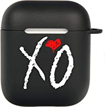 Cool The Weeknd-XO AirPods 2&1 Case, Protective Soft Silicone Cute Luxury Fashion Cover with Keychain for Teens