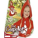 Disfraz infantil de Caperucita Roja, 98 cm, 1 – 2 años, disfraz de Caperucita Roja, disfraz de niña