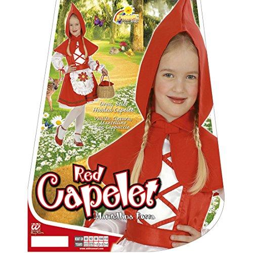 Disfraz de Caperucita Roja para niños, 104 cm, 2-3 años, disfraz de Caperucita Roja, disfraz de niña