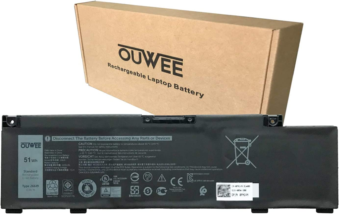 online shop OUWEE 266J9 Laptop Dedication Battery Compatible Inspiron In 5490 Dell with