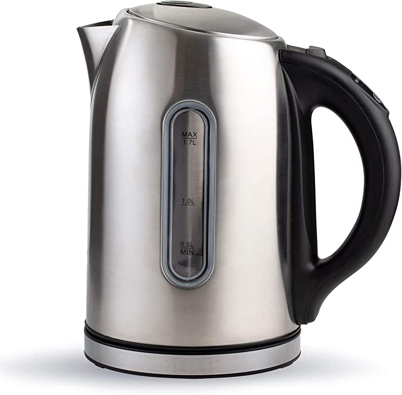 Electric Tea Kettle Stainless Steel Cordless Pot 1 7 Liter Temperature Control Hot Water Heater With LED Light BPA Free Fast Boiling Teapot With Automatic Shut Off Great For Home Kitchen Use