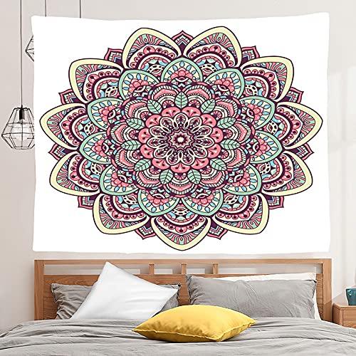 PPOU Mandala Tapiz Colgante de Pared Estilo Boho Fondo de Tela Manta Tela Colgante Hippie Tapiz de Escena psicodélica A5 73x95cm