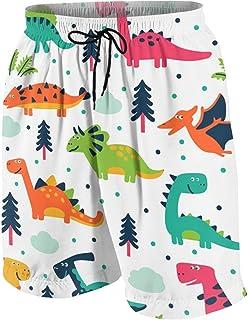 男の子 ハーフパンツ 海パン カートゥーン 恐竜 ショートパンツ サーフパンツ 五分丈 ボードショーツ 速乾 水陸両用 アウトドア 海水浴 普段着 街着 柔らかい 7-20歳が適当
