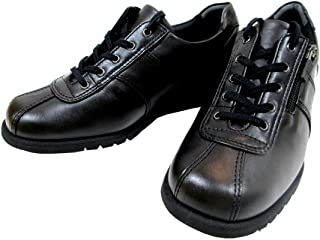 [アシックス] ペダラ PEDALA WPM867 ブラック(90) レディース ウォーキング アウトドア コンフォート 天然皮革 3E 仕事靴 ファスナー付き