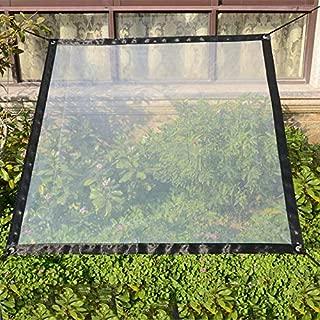 Sureh 2m x 1m wasserdichte transparente Plane mit Ösen, Vordächer und Planen, strapazierfähige, transparente, wetterfeste Plane, faltbar, Pflanzendach, Regenschutz, Seil enthalten