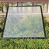SUREH - Toldo impermeable y transparente de 2 x 4 m, con ojales - Lona resistente a la intemperie y plegable para proteger las plantas, con cuerdas