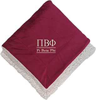 Sorority Letters Shop Pi Beta Phi Sherpa Throw Blanket