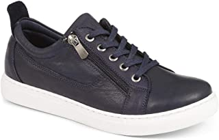 Jones Bootmaker Womens Lace-Up Leather Trainer Low-Cut Sneakers Casual Shoes