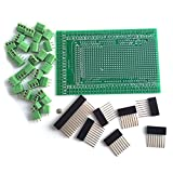 WINGONEER Prototype Screw/Terminal Block Shield Board Kit for Arduino Mega 2560 R3 DIY