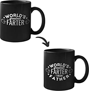 World's Greatest Farter, Dad Gifts Heat Sensitive Magic Mug for Father, Husband, Grandpa, Father's Day, Christmas, Birthday from Daughter/Son, Best Farter, Ceramic 340ml
