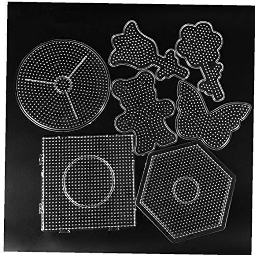 Aiyrchin 5mm Hama Beads Pared Perforada Juguete Cuentas Herramienta educativa Tangram Rompecabezas Plantilla niños de Juguete