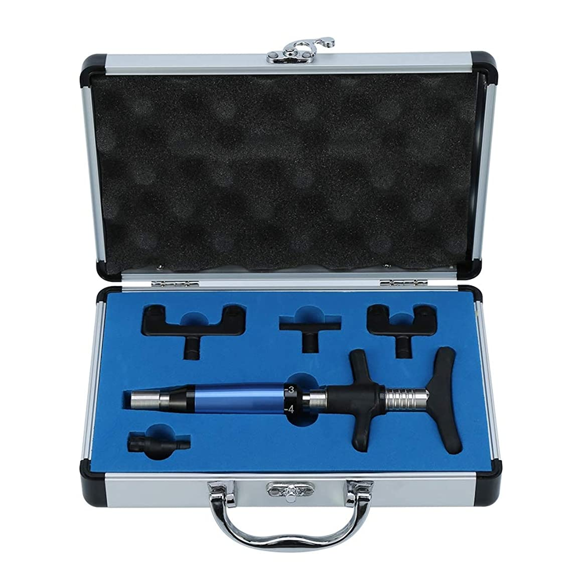 説教するトランスミッション咲く脊椎カイロプラクティック調整ツールインパルスアジャスター脊椎活性化剤、6レベルマニュアルフォースヘッド脊髄マッサージャー、ポータブルカイロプラクティック調整キット(2#)