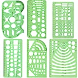 CCMART Set aus 6 Kunststoff-Schablonen mit geometrischen Formen