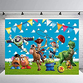 Toy Story Backdrop  For Birthday Party Supplies Decorations Baby Shower Banner Babyshower Photography Photo Booth Props