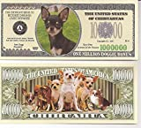 American Art Classics Chihuahua Million Dollar Novelty Bill Collectible - Collectible Novelty Million Dollar Bill in Currency Holder - Best Gift for Chihuahua Lovers