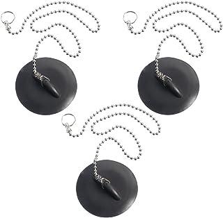 com-four® 3X Tapones de Drenaje de Goma, Tapones de Drenaje de Acero Inoxidable para desagües estándar