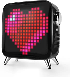 Divoom Tivoo Max Smart Portable Bluetooth LED Speaker with APP-Controlled Pixel Art Animation,...