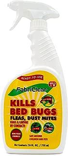 FabriClear Bed Bug, Dust Mite and Flea Killer Spray - Non-Toxic - 24 oz