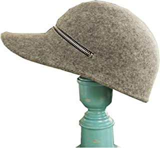 Hats Pure Color Outdoor Sport Cap Spring and Autumn Hat Wool Baseball Cap Fashion (Color : Grey)