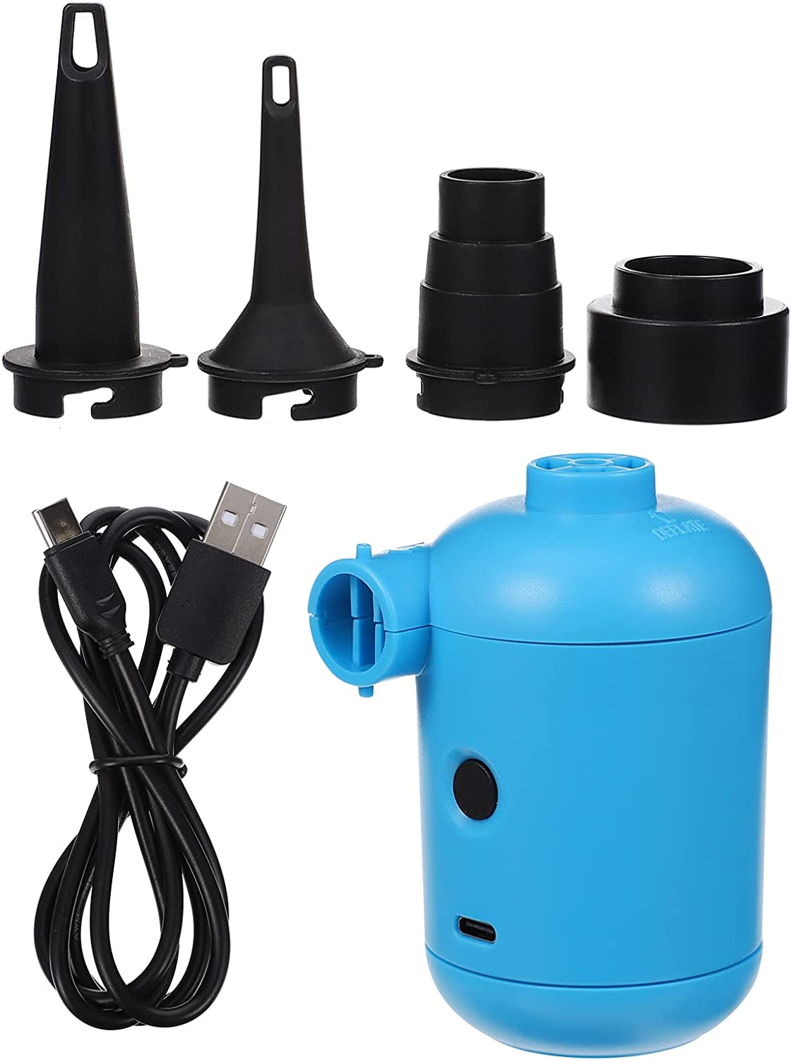 WINOMO Electric Air Pump Quick Fill Inflator Rechargeab Milwaukee Mall USB We OFFer at cheap prices