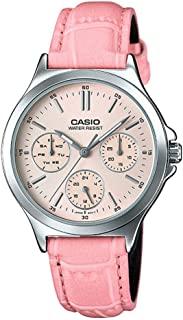 Casio Leather Analog Watch LTP-V300L-4A for Women