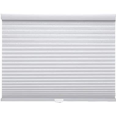 Trader Blinds Cordless Light Filtering Cellular Shade White 22  W x 24  H
