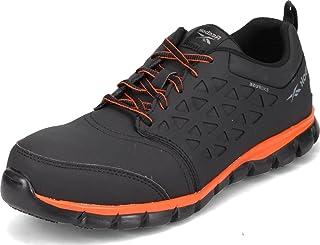 Reebok Work Men's Sublite Cushion RB4050 Safety Toe Athletic Work Shoe Industrial, Black, 11 M US